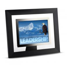 Modern Motivation - Leadership Eagle Infinity Edge Framed Desktop