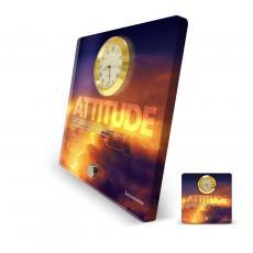 Attitude Lightning Acrylic Desktop Clock