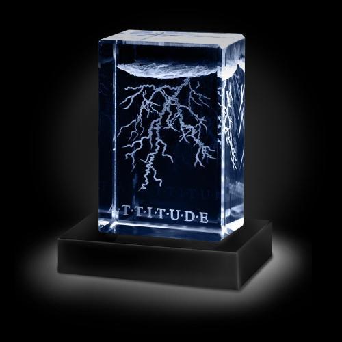 Attitude Lightning 3D Crystal Award
