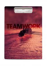 Teamwork Rowers Acrylic Clipboard