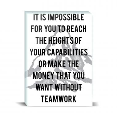 Without Teamwork Desktop Print