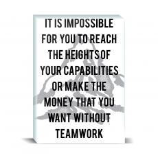 Typography - Without Teamwork Desktop Print