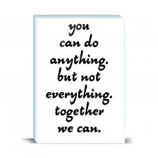 Typography - You Can Do Anything Desktop Print