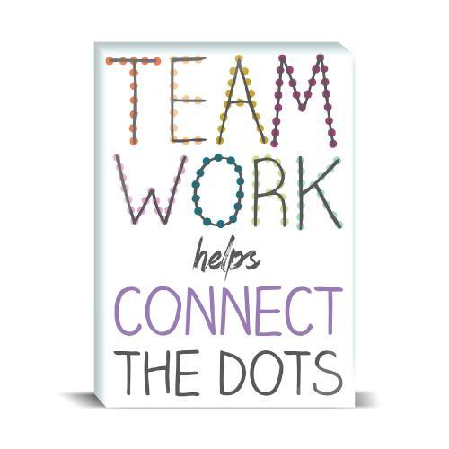 Teamwork Connect Dots Desktop Print