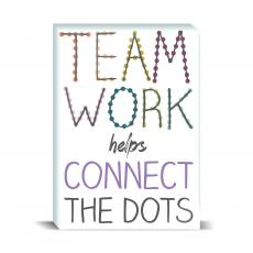 Color & Texture - Teamwork Connect Dots Desktop Print