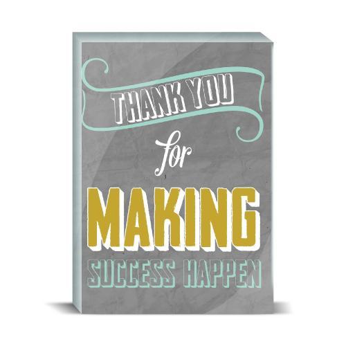Thank You For Making Success Happen Desktop Print