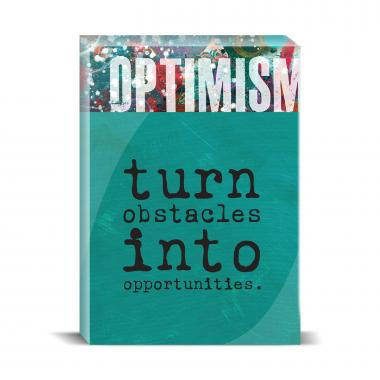 Optimism Obstacles Desktop Print