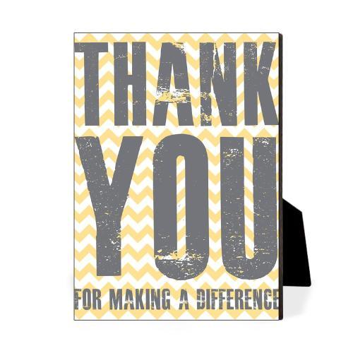 Thank You Difference Yellow Desktop Print