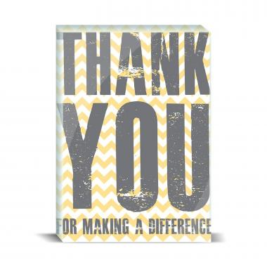 Thank You Difference Yellow Desktop Print