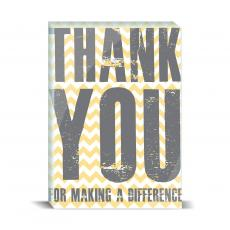 Color & Texture - Thank You Difference Yellow Desktop Print