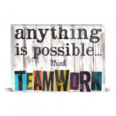 Color & Texture - Think Teamwork Desktop Print
