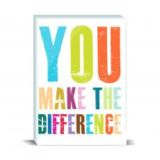Color & Texture - You Make A Difference Desktop Print
