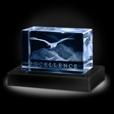 Excellence Eagle 3D Crystal Award
