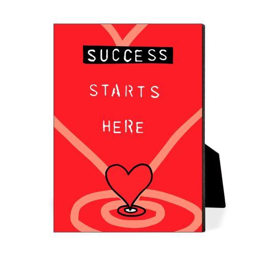 Success Starts Here Desktop Print