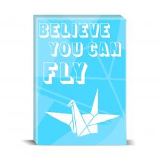 Color & Texture - Believe You Can Fly Desktop Print