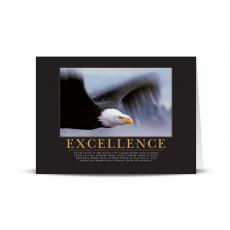 Classic Motivational Cards - Excellence Eagle 25-Pack Greeting Cards