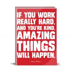 Color & Texture - Work Hard Desktop Print