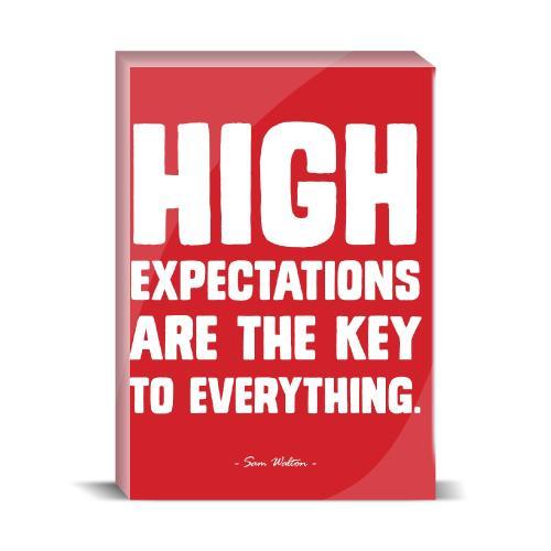 High Expectations Desktop Print