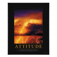 Attitude Lightning Motivational Poster