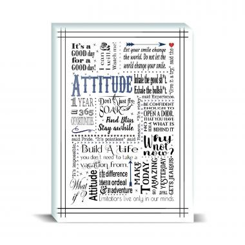 Attitude Blue Desktop Print