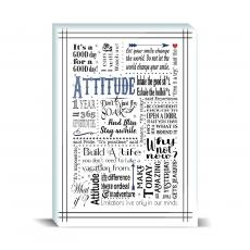 Studious Studio - Attitude Blue Desktop Print