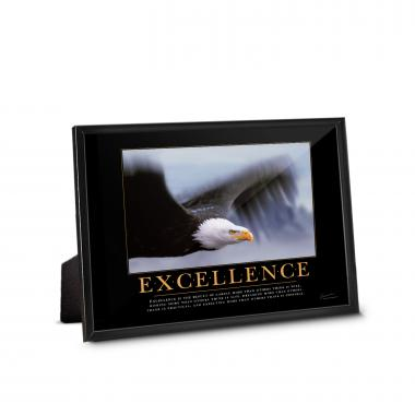 Excellence Eagle Framed Desktop Print