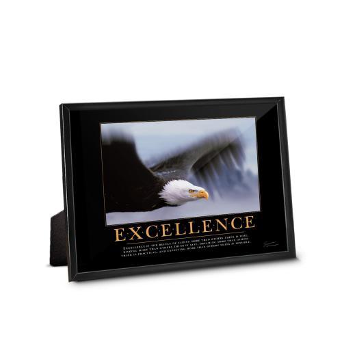 Excellence Eagle Framed Desktop Print