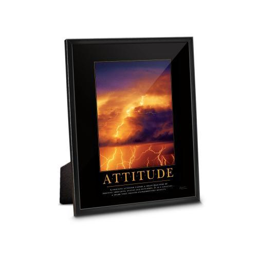 Attitude Lightning Framed Desktop Print