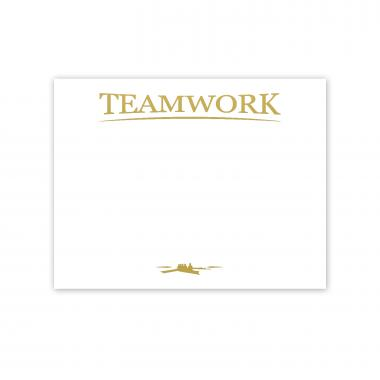 Teamwork Rowers Gold Foil Certificate Paper