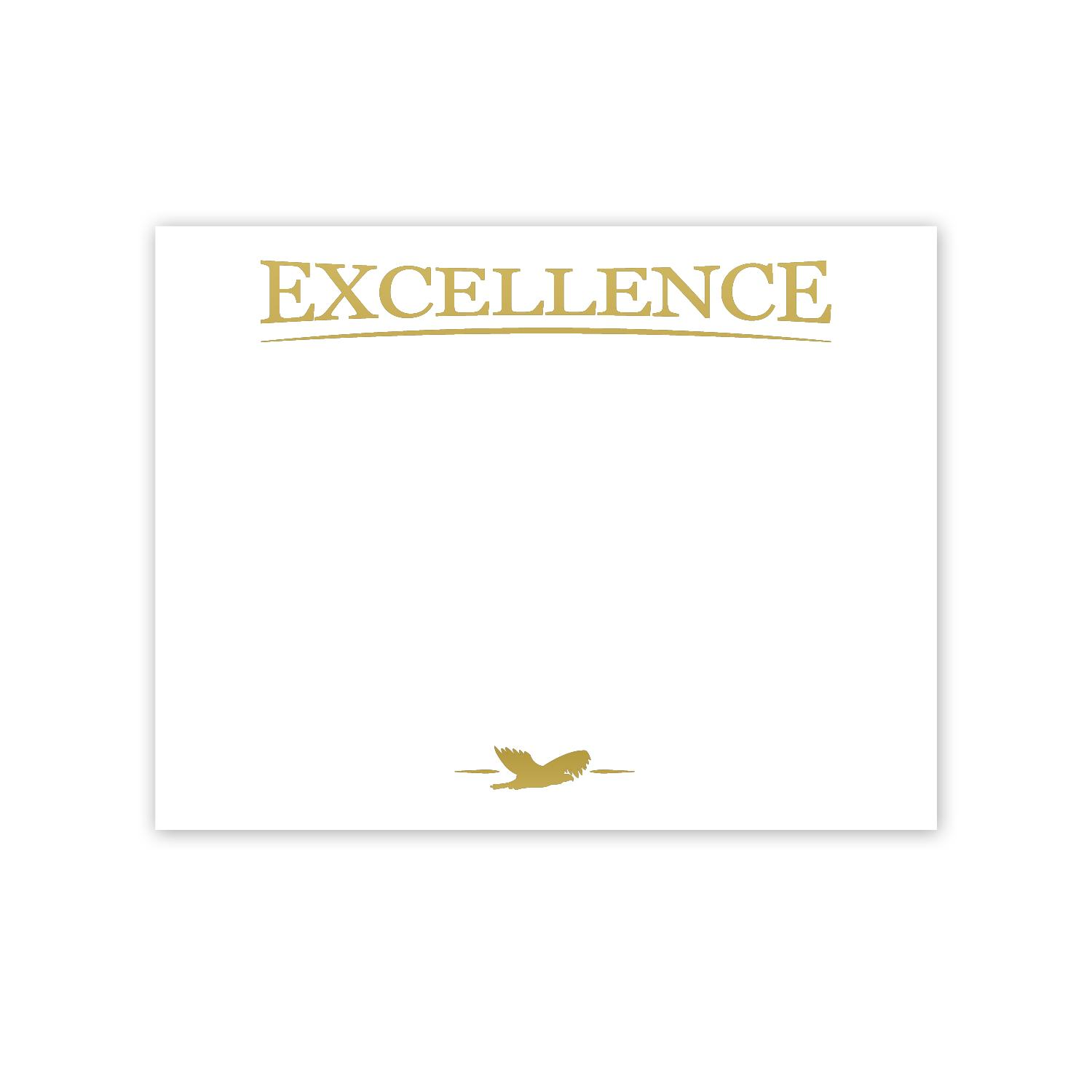 award certificate paper excellence eagle gold foil certificate paper