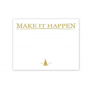 Make It Happen Gold Foil Certificate Paper