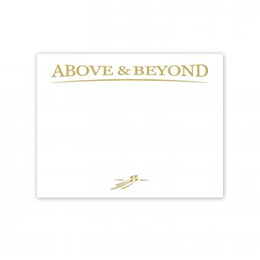 Above & Beyond Jets Gold Foil Certificate Paper