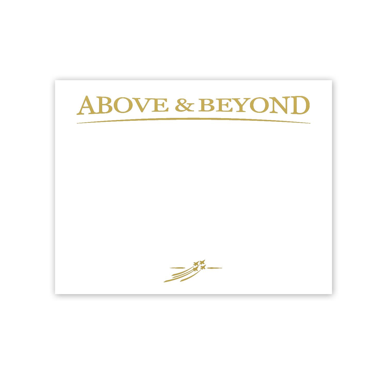 Certificate awards by successories above beyond jets for Above and beyond