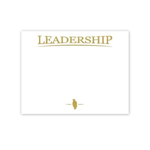 Leadership Eagle Gold Foil Certificate Paper
