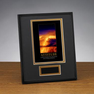 Attitude Lightning Framed Award