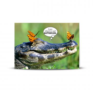 Alligator Butterflies 25-Pack Greeting Cards