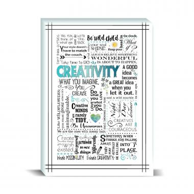 Creativity Blue Desktop Print