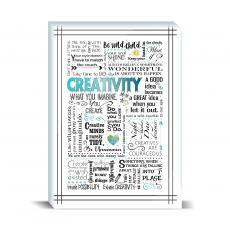 Studious Studio - Creativity Blue Desktop Print