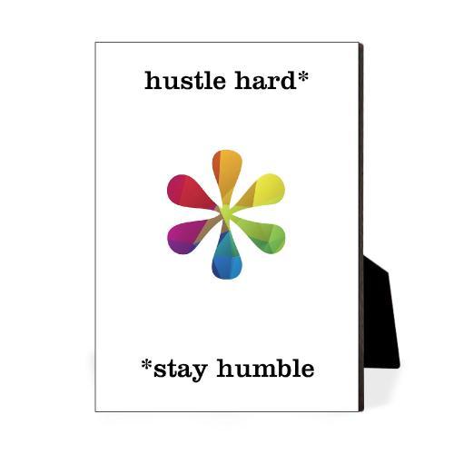 Hustle Hard Geometry Desktop Print