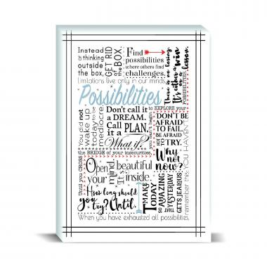 Possibilities Blue Desktop Print