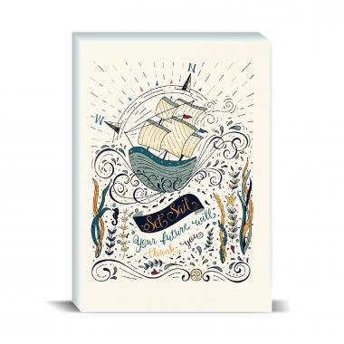 Ship Set Sail Desktop Print