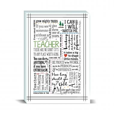 Teacher Green Desktop Print