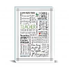 Studious Studio - Teacher Green Desktop Print