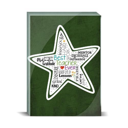 Teacher Star Desktop Print