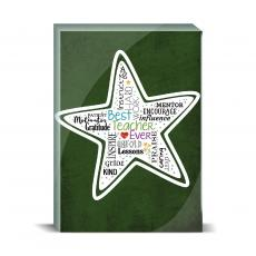 Typography - Teacher Star Desktop Print