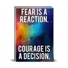 Space Series - Courage Is A Decision Desktop Print