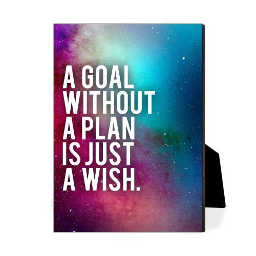 Goal Without A Plan Desktop Print