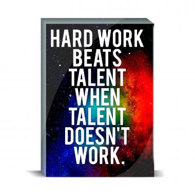 Hard Work Desktop Print