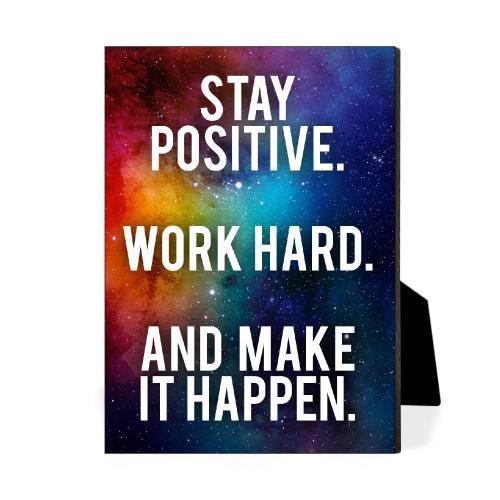 Stay Positive Desktop Print