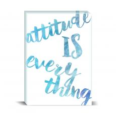 Watercolor Series - Attitude Is Everything Desktop Print